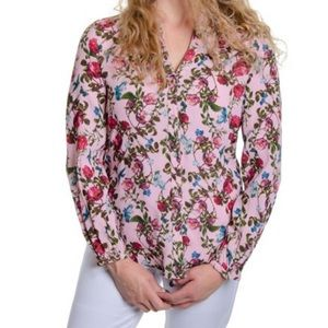 Kut from the kloth eleni floral poet blouse pink